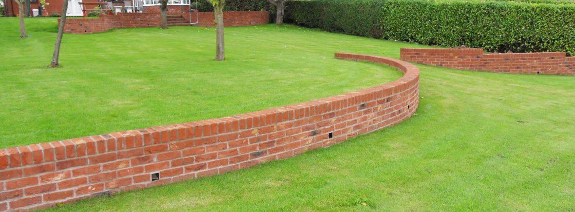 Garden walls in Stoke on Trent