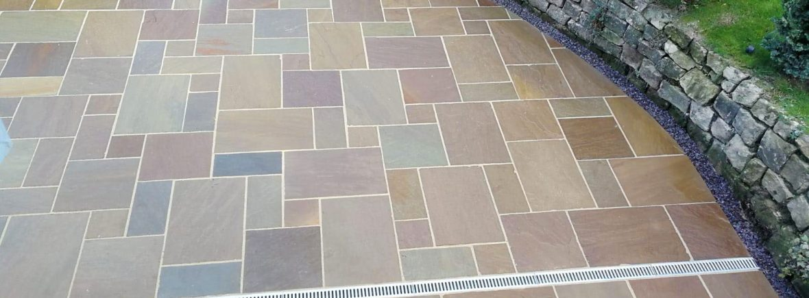 Indian Stone paving in Stoke on Trent